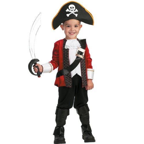 [El Capitan Costume: Boy's Size 4-6] (Toddler Boys Pirate Costumes)