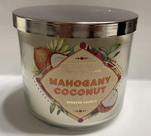 Coconut Candle Glass - Bath and Body Works Mahogany Coconut Glass Candle 14.5 Ounces
