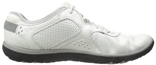 ... Clarks Aria Spitze Walking-Schuh White Leather