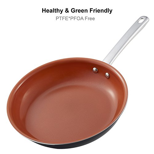 Usa 9 Inch Healthy Green Ceramic Non Stick Fry Frying Pans