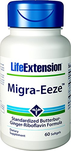 Life Extension Migra-Eeze Standardized Butterbur-Ginger-Riboflavin, 60 (Extract Standardized 60 Softgels)
