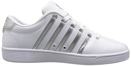 K-Swiss Womens Court Pro II CMF Metallic Athletic Shoe White/Silver hrRDckJN