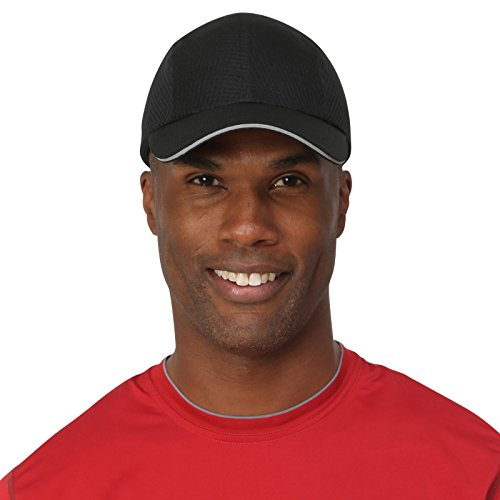 Brooks Running Hat (TrailHeads Race Day Performance Running Cap | The Lightweight, Quick Dry, Sport Cap for Men – 5 Colors - Black)