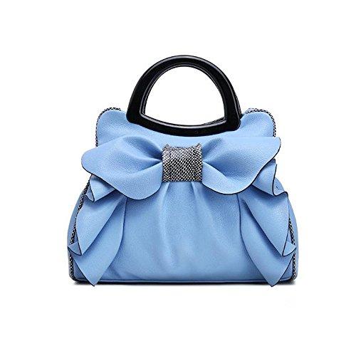 Bag Bag New Sweet blue Shoulder Beautiful Handbag Bow XIAOLONGY Woman Lady Messenger Bag Simple qwFYxIA