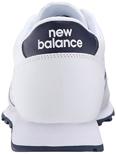 888546344532 - New Balance Men's NB501 Leather Collection Classic Running Shoe, White/Navy, 9 2E US carousel main 1