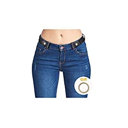 No Buckle Invisible Ladies Elastic Waist Belt for Women Men Stretch Belt for Jeans Dress Pants up to 48″ by SUOSDE