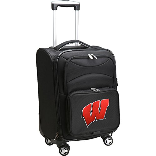 DENCO SPORTS LUGGAGE UNIVERSITY OF WISCONSIN 20'' BLACK DOMESTIC CARRY-ON SPINNER by Denco Luggage 1048749