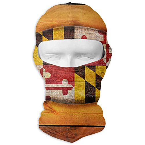 (Xieadery Maryland Flag Print Balaclava Ski Mask UV Sunscreen Headgear Hat Windproof Cap Cold Weather Face Motorcycle Mask Outdoors Helmet Liner Mask)