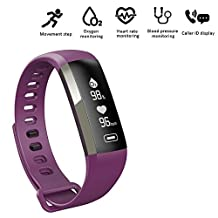 Fitness tracker, Heart Rate Monitor Bluetooth Smart Bracelet Slim Touch Screen Smart Wristband Wireless Pedometer Watch Sleep Monitor Activity Health Tracker For Android iOS Smartphone