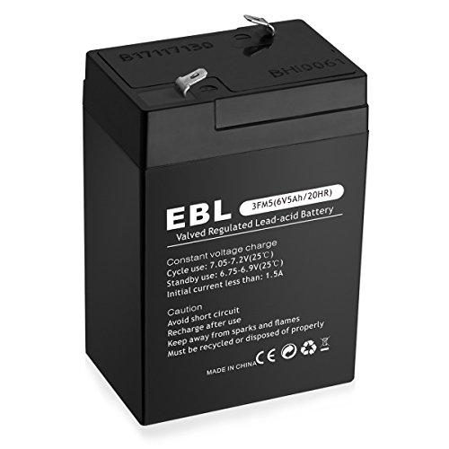 EBL 6V 5Ah 3MF5 Rechargeable Lead Acid Battery by EBL