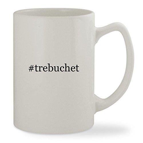 #trebuchet - 14oz Hashtag White Statesman Sturdy Ceramic Coffee Cup Mug