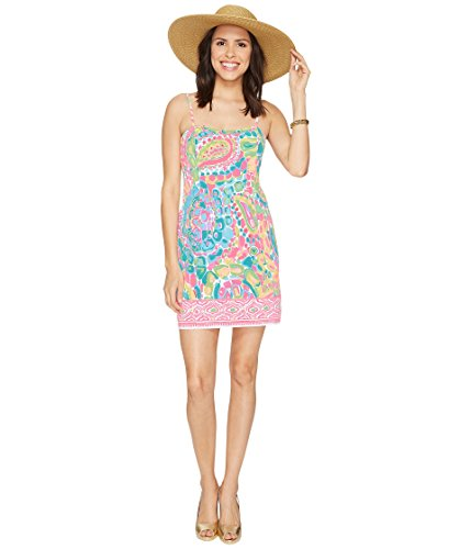 Lilly Pulitzer Women's Shelli Dress Multi Come Out of Your Shell Engineered (Lilly Pulitzer Tie)