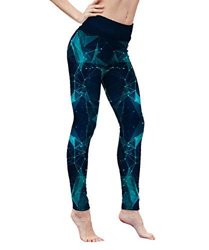 Elsefour Women's printed High-Waist Leggings (M, Star sky)