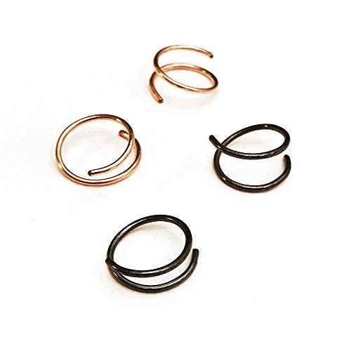 Gold Circle Twist Earrings also in Rose Gold - Gunmetal or Silver Handmade Corkscrew Earrings - Cork Twist