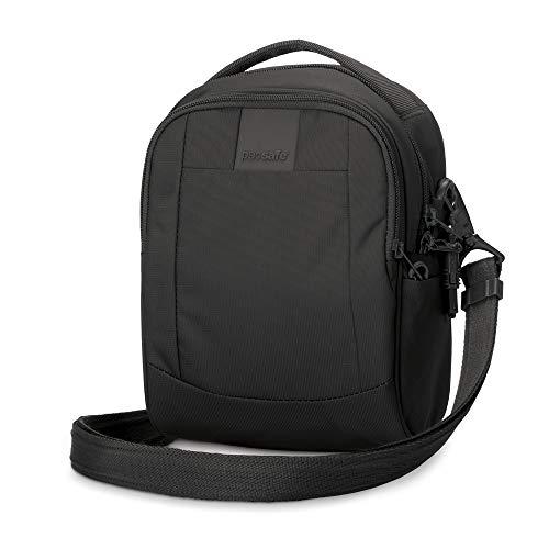 theft Pacsafe black Liters 3 Cross Borsa Anti Body Cm 23 Ls100 Bag 100 Nero Metrosafe Messenger Rqrqt