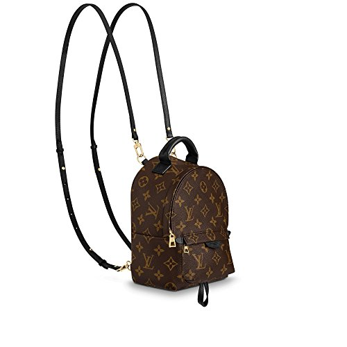 Palm Springs Style Canvas Monogram MINI Backpack with Adjustable Straps Perfect for Men Women Girls Boys (Gucci Bag)