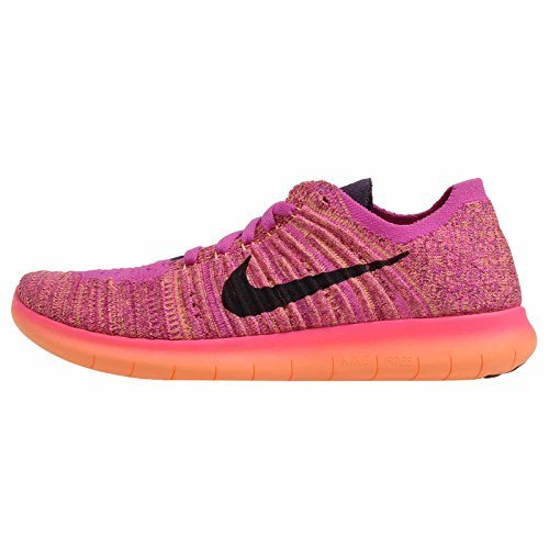 (Nike Youth's Free RN Flyknit (GS) Fire Pink/Grand Purple 834363-601 Running Shoes (US 5Y))