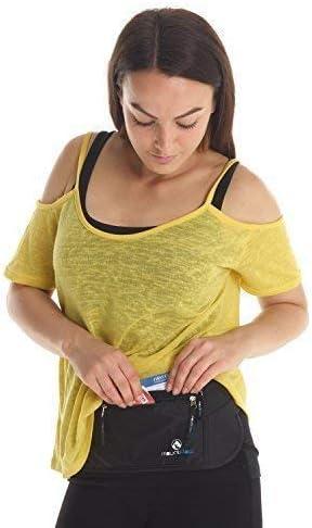 Flat Secure Pouch RFID Travel Pouch Hidden Festival Bumbag Black MountFlow Money Belt