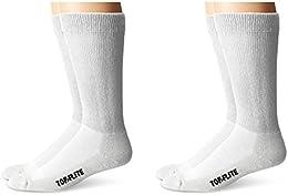 Best Review Top Flite Diabetic Non binding Cushion Crew Ultra Dri Socks 4 Pair Pack