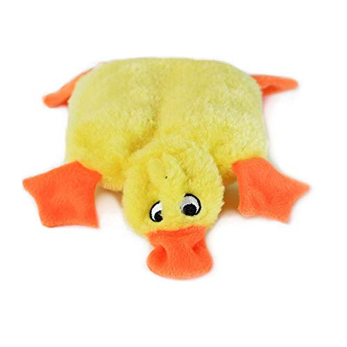 ZippyPaws - Squeakie Pads No Stuffing Plush Dog Toy - Duck ()