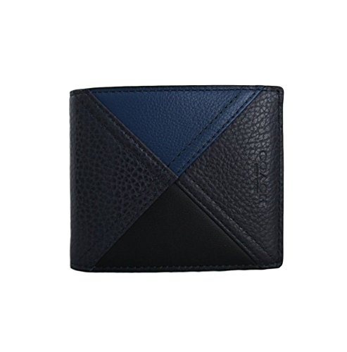 COACH 3 in 1 Patchwork Leather Passcase ID Wallet in Indigo Blue 56599