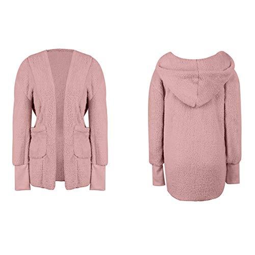 Cachemira De Medio Abrigo Abrigo Cálido para Color Mujer Invierno GXYCP Khaki E Pink De Superior Sólido Otoño XL gAFCcgW