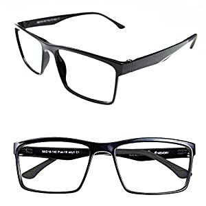 ULTEM Myopia Glasses Optical Prescription Eyeglasses Frame 56-18-140-36 (Shiny black)