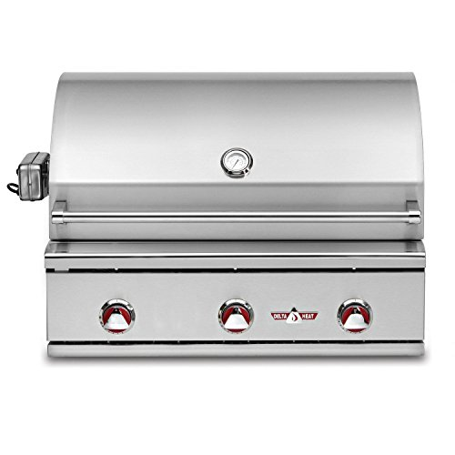 Delta Heat Built-in Grill with Infrared Rotisserie (DHBQ32R-C-N), 32-Inch, Natural Gas