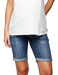 69df56aaad43c Luxe Essentials Denim Secret Fit Belly Maternity Bermuda Shorts