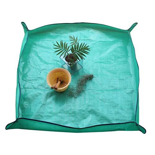 Pulison Garden Kneelers Work Cloth Waterproof Thicken PE Transplanting Repotting Plant Mat Anti Dirty Home Indoor Bonsai Work Mat 1MX1M (Green)