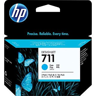 HEWCZ134A - HP 711 3-pack 29-ml Cyan Ink Cartridges