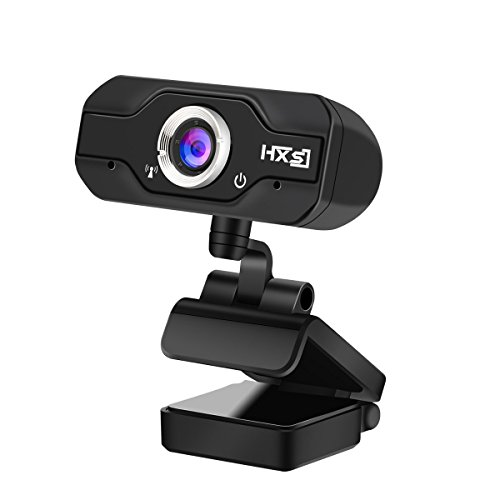 720P HD Webcam, InTeching USB Widescreen Computer Camera with Microphone for PC, Desktop or Laptop (Model: HXSJ)