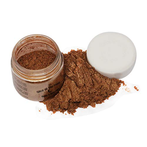 Slice of the Moon: Bronze Mica Powder 28g, Natural Mineral Mica, Cosmetic Grade for Lipstick Lip Gloss Bath Bombs Epoxy Resin Face Blush Powder Eye Pencil Dye Pigments Candle Making