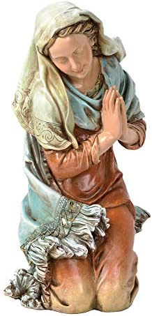 Joseph s Studio by Roman – Colored Mary Figure for 27 Scale Nativity Collection, 16 H, Resin and Stone, Decorative, Collection, Durable, Long Lasting