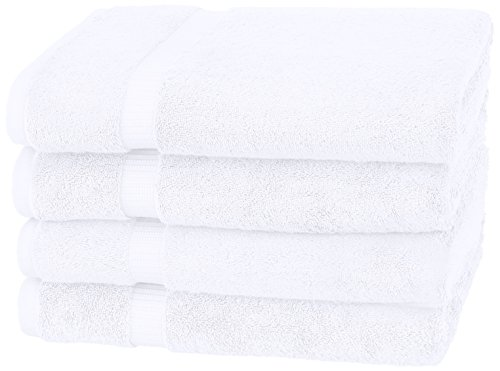 Pinzon Organic Cotton Bath Towel, Set of 4, White