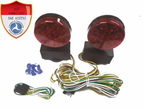 (Trailer Lights Kit, Submersible 12V Towing Light Kit Multi-Function (LED)