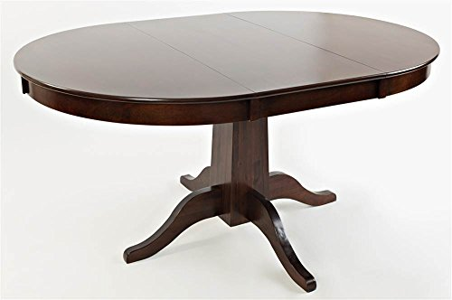 Jofran 1659-60TBKT Everyday Classics Round to Oval Dining Table, 42