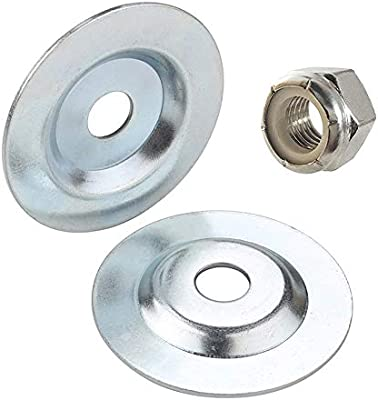 Od3 1 10 X Id 5 8 Bench Grinder Arbor Washer Flange With A Hex Lock Nut For Grinding Wire Wheel 2pcs Amazon Com Au Home Improvement
