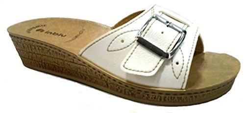 INBLU - Zapatillas de estar por casa para mujer blanco Bianco 37