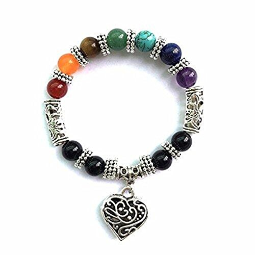 Chic Retro 7 Chakra Healing Yoga Reiki Prayer Bead Bracelet - Retro Chic