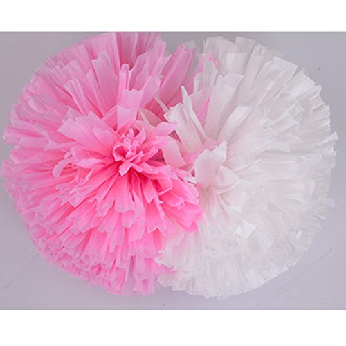 Cheerleader Cheerleading PomPoms Party Costume Accessory Set Ball Dance Fancy Dress Night Party Sports Pompoms Cheer 2Pcs (rose (Eagles Cheerleading Costume)