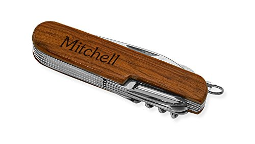 Dimension 9 Mitchell 9-Function Multi-Purpose Tool Knife, Rosewood Mitchell Steel Knife