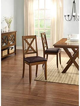 Amazon Com Better Homes And Gardens Maddox Crossing Dining Chair Set Of 4 Brown Chairs
