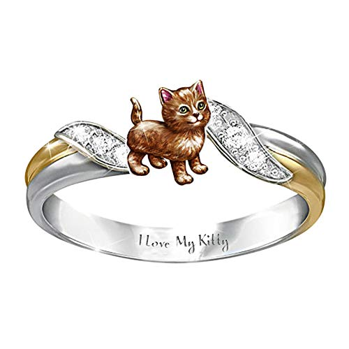 Mother's Day Ring Animal Shaped Women Wedding Party Jewelry Size 5-10 (F,10)