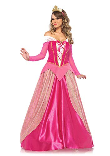 Leg Avenue Women's Classic Sleeping Beauty Princess Halloween Costume, Pink, Large