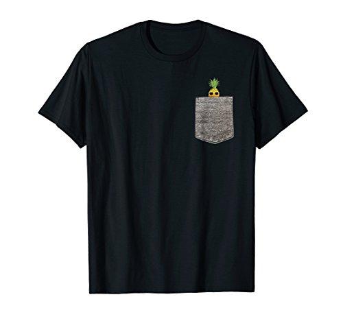 Summer Pineapple Sunglasses Faux Pocket T-Shirt ()