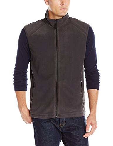 Clique Men's Summit Full-Zip Microfleece Vest, Charcoal, X-Large