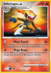Pokemon - Infernape (22) - Majestic Dawn - Reverse Holo ()