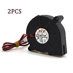 GLE2016 2 Pack Laptop Cooling Blower Fan DC 12V 50mmx15mm CPU Cooler Black (DC 12V 5015)