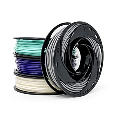 Gizmo Dorks Low Odor ABS 3D Printer Filament 1.75mm 200g Sample Pack - White, Teal, Purple, Grey